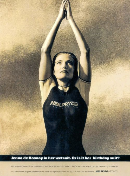 Jenna de Rosnay - wetsuit body paint Neil Pryde