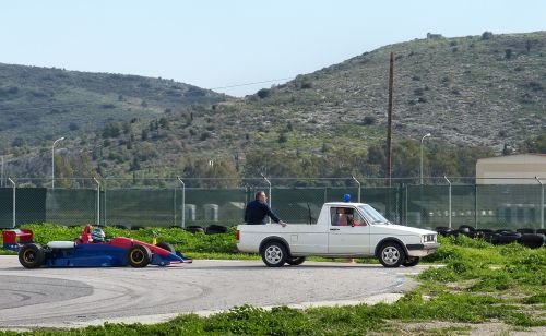 Reynard 903 testing - ρυμούλκα