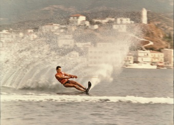 Manolis- skiing @ Galini watersports club - early '80's