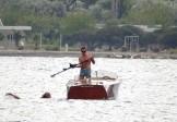 vintage speed boat- ski - Poros GR - 2014
